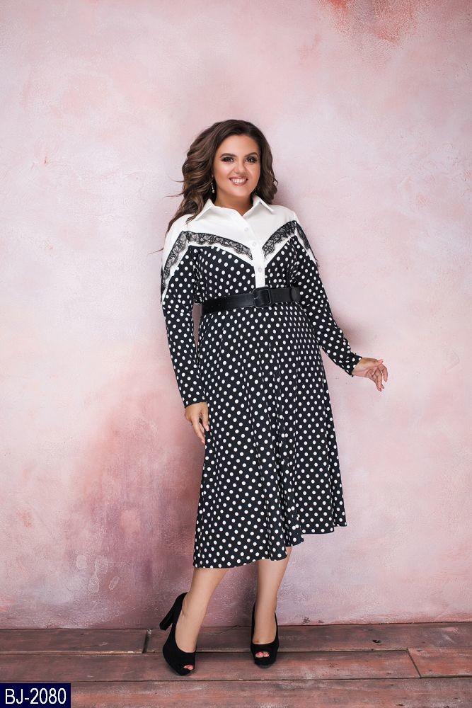 Стильное платье   (размеры 48-58) 0207-93