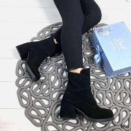 Модные ботинки на каблуке, фото 2