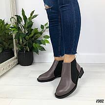 Коричневые женские ботинки, фото 3