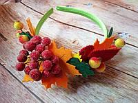 """Ободок детский на голову """"Осенние ягоды"""", бок., фото 1"""