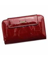 Женский кожаный кошелек красный Италия ROVICKY 8808-LPC RFID