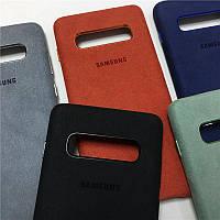 Оригинальный чехол Alcantara для Samsung Galaxy S10 Plus, фото 1