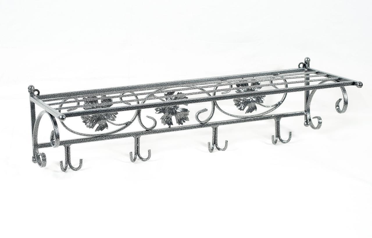"""Вешалка настенная металлическая """"Венеция"""", цвет Антик-серебро."""