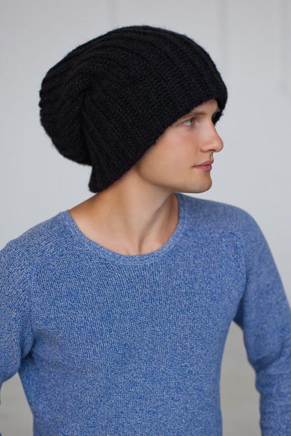 Мужская шапка-колпак «Эдмон» (черный)