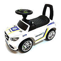 "Машинка-каталка ""Полиция"" со звуком и световом, ТМ ColorPlast (2-002 БЕЛ полиция)"