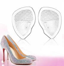Стельки для обуви силиконовые - размер одной стельки 6,5*7см, прозрачные