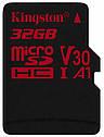 Карта памяти Kingston microSDHC 32GB Canvas React Class 10 UHS-I U3 V30 (SDCR/32GBSP), фото 2