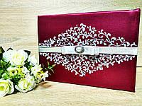 Книга для пожеланий Stile (марсала с серебром)