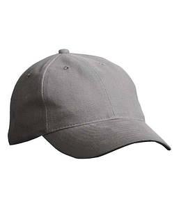 6-панельная кепка с мягкой подкладкой U, MDKG Тёмно-Серый