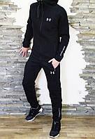 Спортивный костюм мужской черный на флисе Under Armour