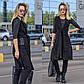 """Женский стильный брючный костюм в больших размерах 3087 """"Алекс Принт Жилет Кольца"""", фото 5"""
