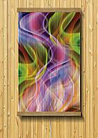 Картина обогреватель 60*100 см абстракция дым