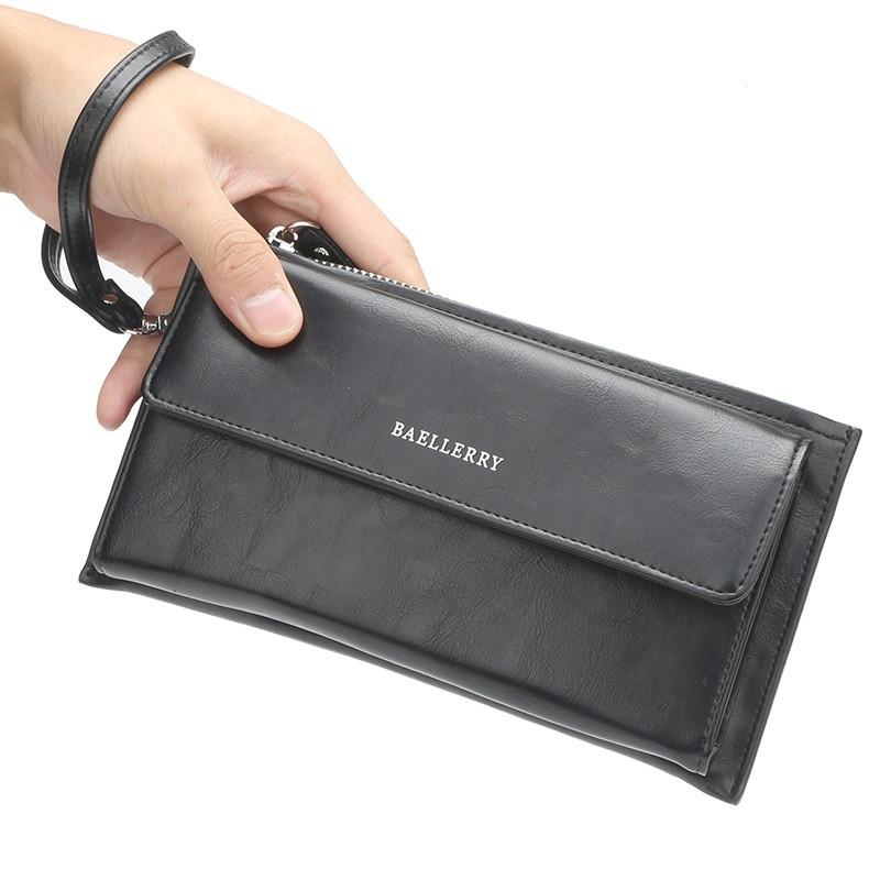 Мужской Кошелек Портмоне Baellerry (S5518) Черный