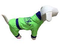 """Дождевик комбинезон для собак """"Джусси"""" салатовый (размер 8)"""