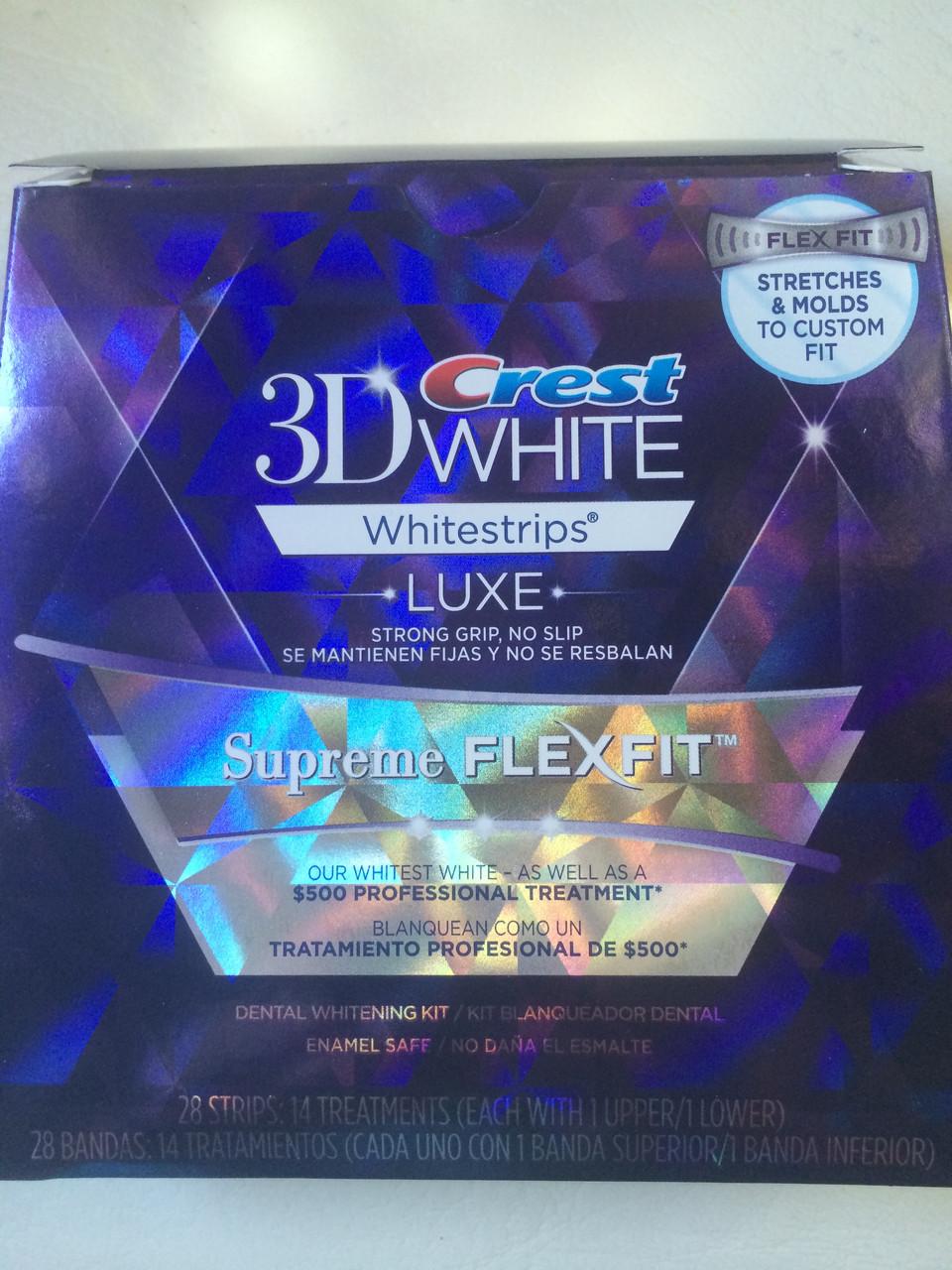 Экслюзивное отбеливание зубов Crest 3D White Supreme FlexFit на 14 дней
