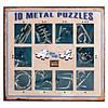 Набор головоломок 10 Metall Puzzles blue 10 головоломок Eureka 3D Puzzle 473356, фото 3