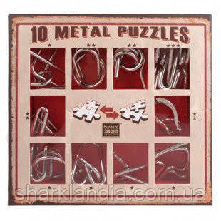 Набор головоломок 10 Metall Puzzles red 10 головоломок Eureka 3D Puzzle 473358