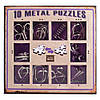 Набор головоломок 10 Metall Puzzles violet 10 головоломок Eureka 3D Puzzle 473359, фото 3