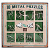 Набор головоломок 10 Metall Puzzles green 10 головоломок Eureka 3D Puzzle 473357, фото 3