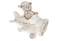 Декоративная фигурка-копилка Мишка в самолете, 17см