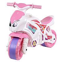 Мотоцикл бело-розовый для девочек, ТМ Технок (5798)