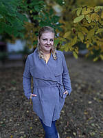 Модный кардиган-пальто женский на запах (42-46) , доставка по Украине Укрпочта,НП,Джастин