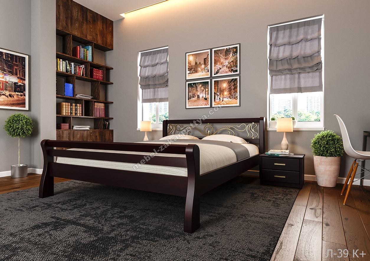 Кровать деревянная  Л-39 К+