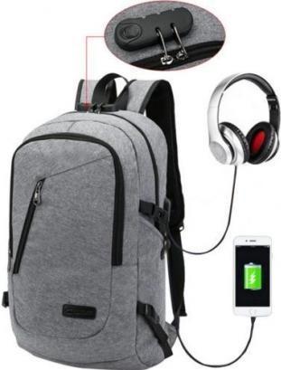 Молодіжний рюкзак з вбудованим USB і блокуванням блискавки