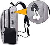 Молодіжний рюкзак з вбудованим USB і блокуванням блискавки, фото 2