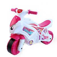 Музыкальный мотоцикл каталка для девочек, ТМ Технок (6368)