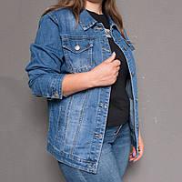 8868 Zijinyan куртка джинсовая женская батальная осенняя котоновая (4XL-9XL, 6 ед.)