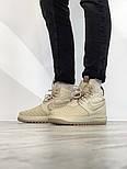 """Мужские зимние кроссовки Nike Lunar Force 2 Duckboot """"Beige"""" термо. Фото в живую. Реплика, фото 4"""