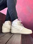 """Мужские зимние кроссовки Nike Lunar Force 2 Duckboot """"Beige"""" термо. Фото в живую. Реплика, фото 9"""