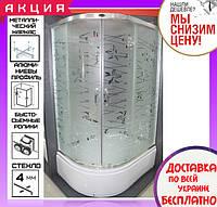 Угловая душевая кабина 115х85 см с поддоном 36 см Santeh 1115R Tatiana двери раздвижные левосторонняя, фото 1
