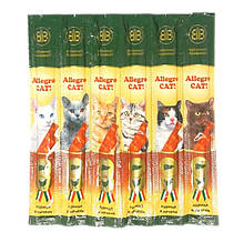 Колбаски с курицей и печенью для кошек B&B Allegro Cat 6 шт.