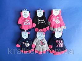 """НОВИНКА! Перчатка (16 см) для девочек две перчатки в одной """"Scorpio Poland"""" Польша"""