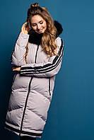 Модная качественная зимняя куртка с мехом Милания, разные цвета, фото 1