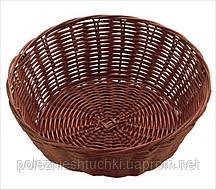 Корзина-хлебница круглая 18х7 см, темно-коричневый, поли-ротанговая FoREST
