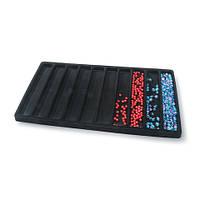 Органайзер для работы с бисером и бусинами, флокированный черный, 33.6*19.5 см - США