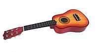 Гитара деревянная детская M 1370 52см,струны 6шт, ,в кор-ке,53,5-20-6,5см (Оранжевый)