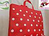 Стильная модная сумка красная в горох горошек для отдыха пляжа пикника покупок, фото 4