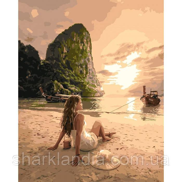 """Картина за номерами. """"Закохана в море"""" 40*50см KHO4592"""