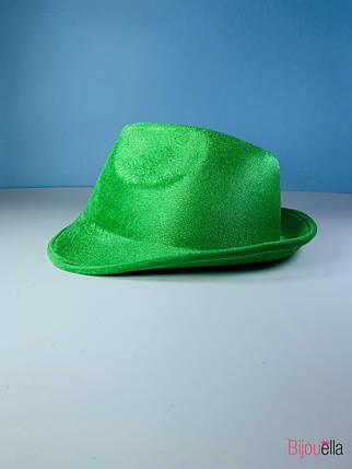 Карнавальная шляпа Федора яркая для карнавала маскарада вечеринки, фото 2