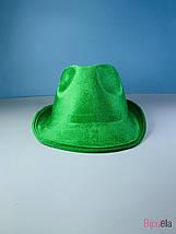 Карнавальная шляпа Федора яркая для карнавала маскарада вечеринки, фото 3