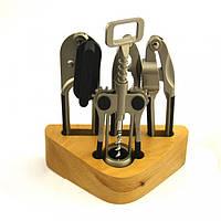 Набор кухонный 4 предмета на деревянной стойке