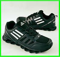 Кроссовки ADIDAS Мужские Адидас Чёрные (размеры: 41,42,43,44,45) Видео Обзор