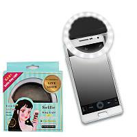 Кольцо с подсветкой для селфи selfie light (W-16) черное 141010