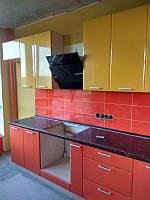 Кухня Хай-Тек 3800х1700 мм (оранж + лимон), фото 1