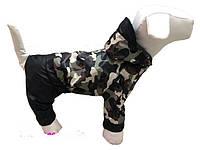 """Дождевик комбинезон для собак """"Защитный"""", размер 7."""