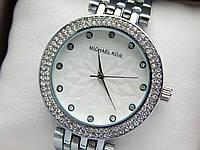 Женские кварцевые наручные часы Michael Kors (Майкл Корс) металл, серебро, серый циферблат CW278